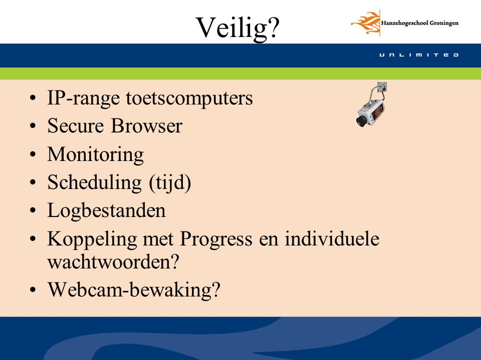 Veilig IP-range toetscomputers Secure Browser Monitoring