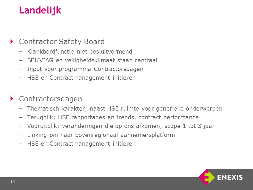 Landelijk Contractor Safety Board Contractorsdagen