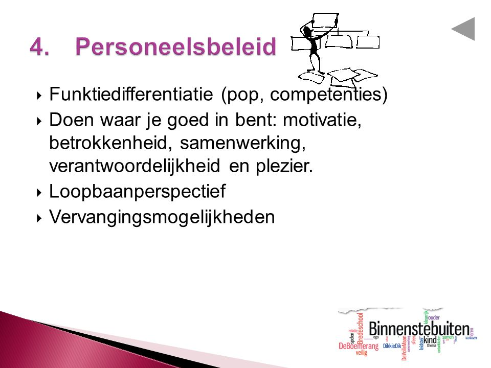 4. Personeelsbeleid Funktiedifferentiatie (pop, competenties)
