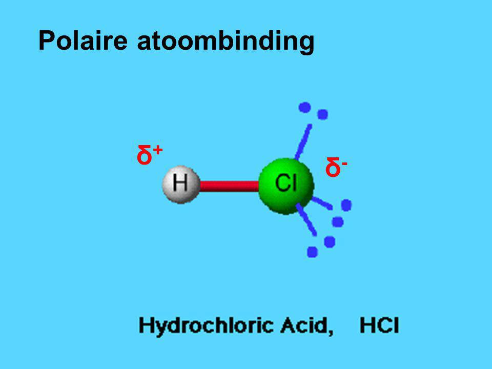 Polaire atoombinding δ+ δ-