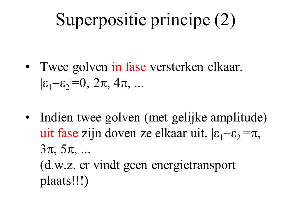 Superpositie principe (2)