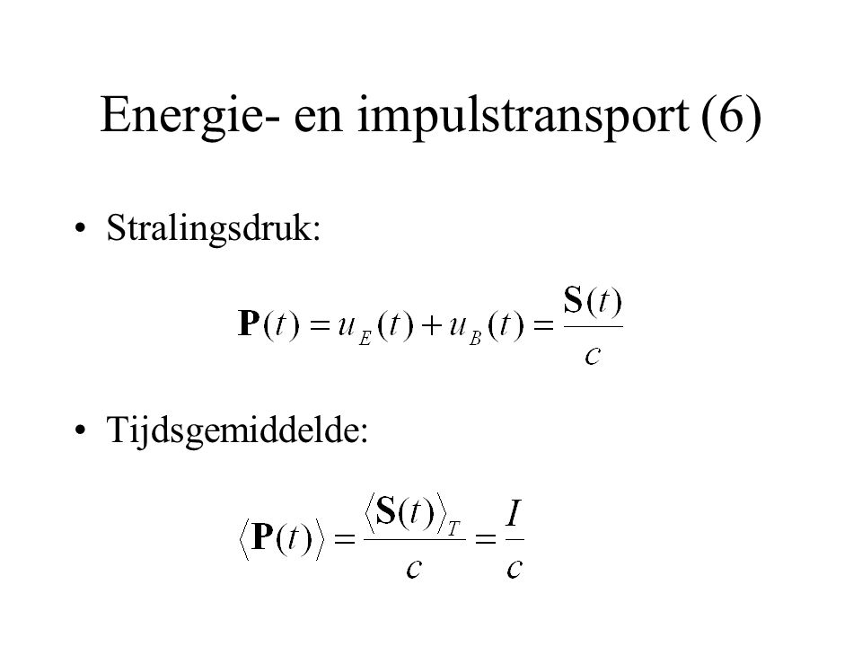 Energie- en impulstransport (6)