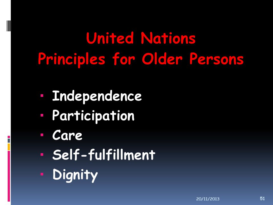 Principles for Older Persons