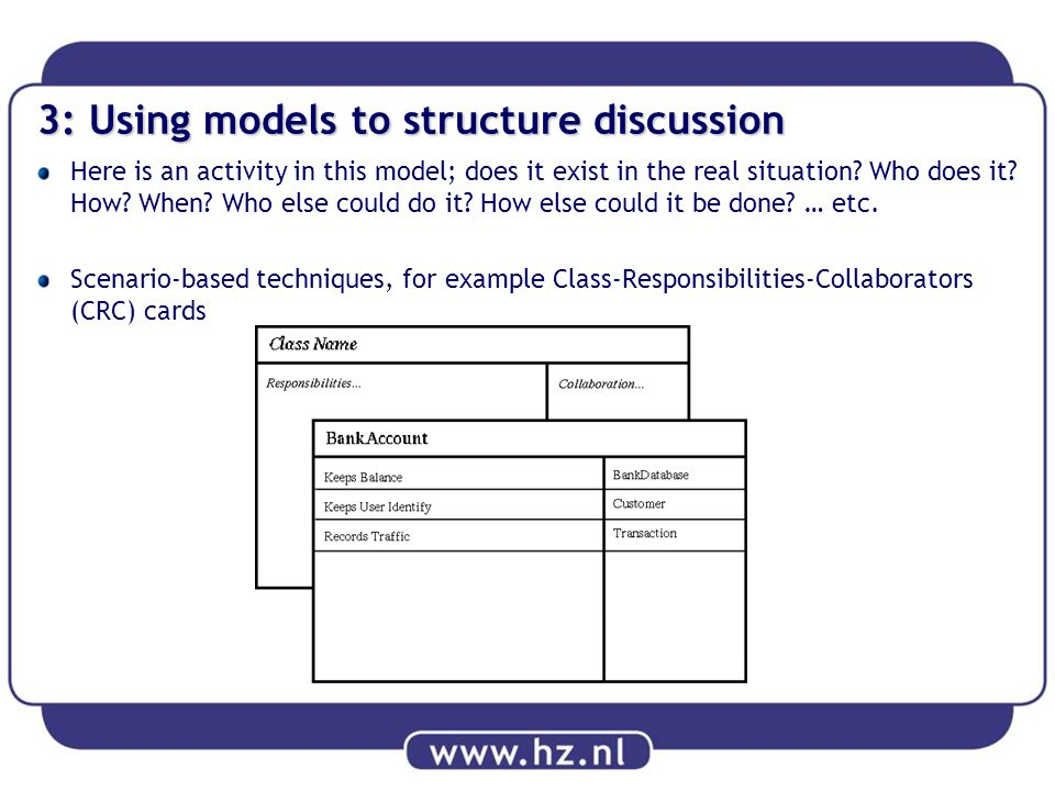 3: Using models to structure discussion