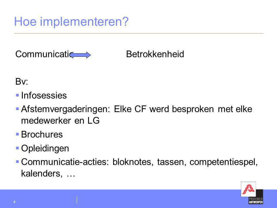Hoe implementeren Communicatie Betrokkenheid Bv: Infosessies