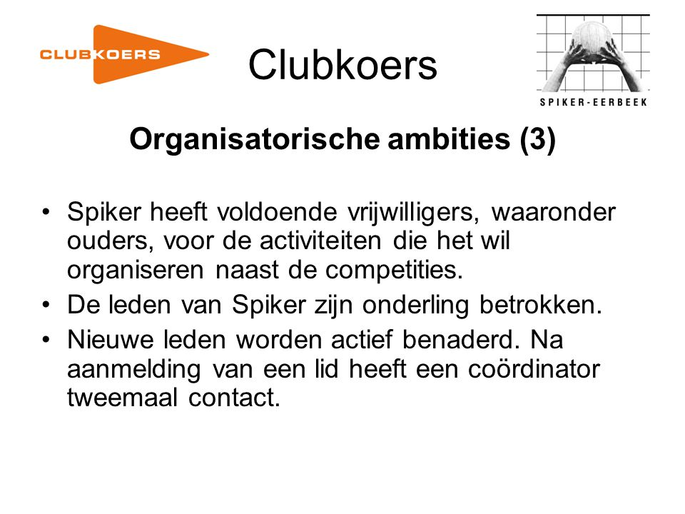 Organisatorische ambities (3)