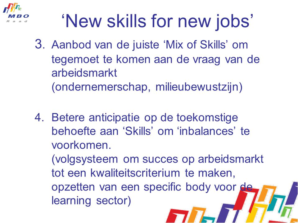 'New skills for new jobs'