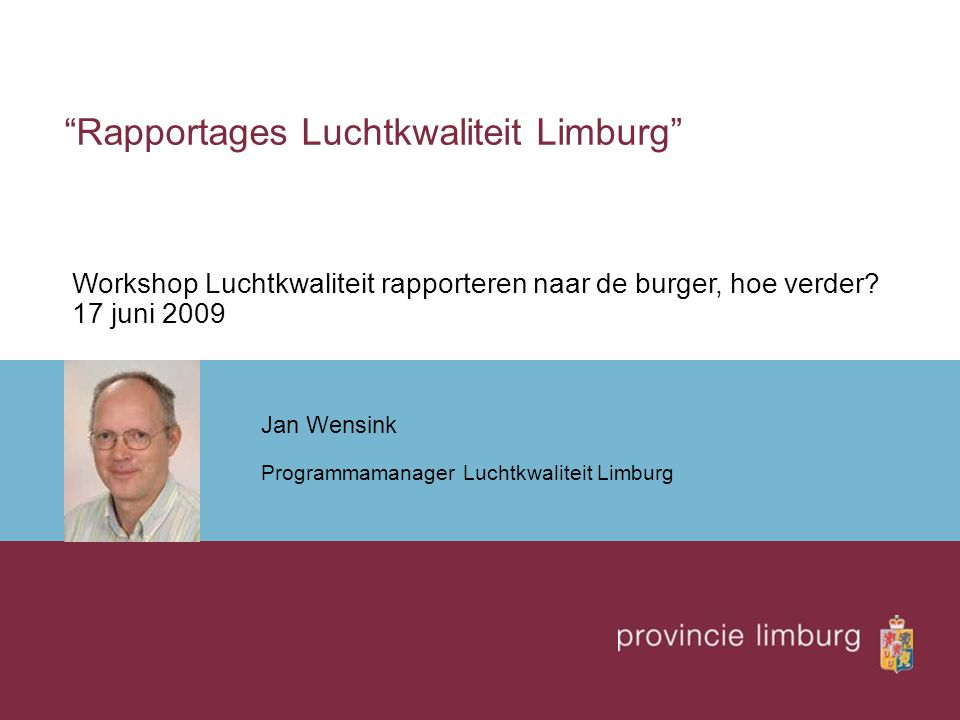 Rapportages Luchtkwaliteit Limburg