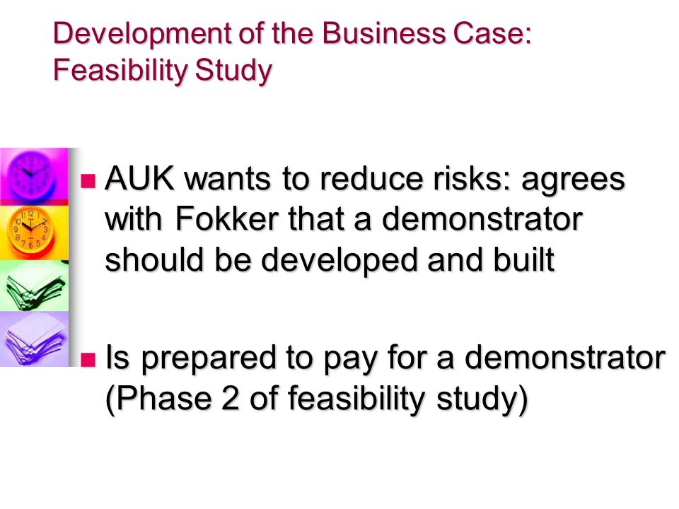 Development of the Business Case: Feasibility Study