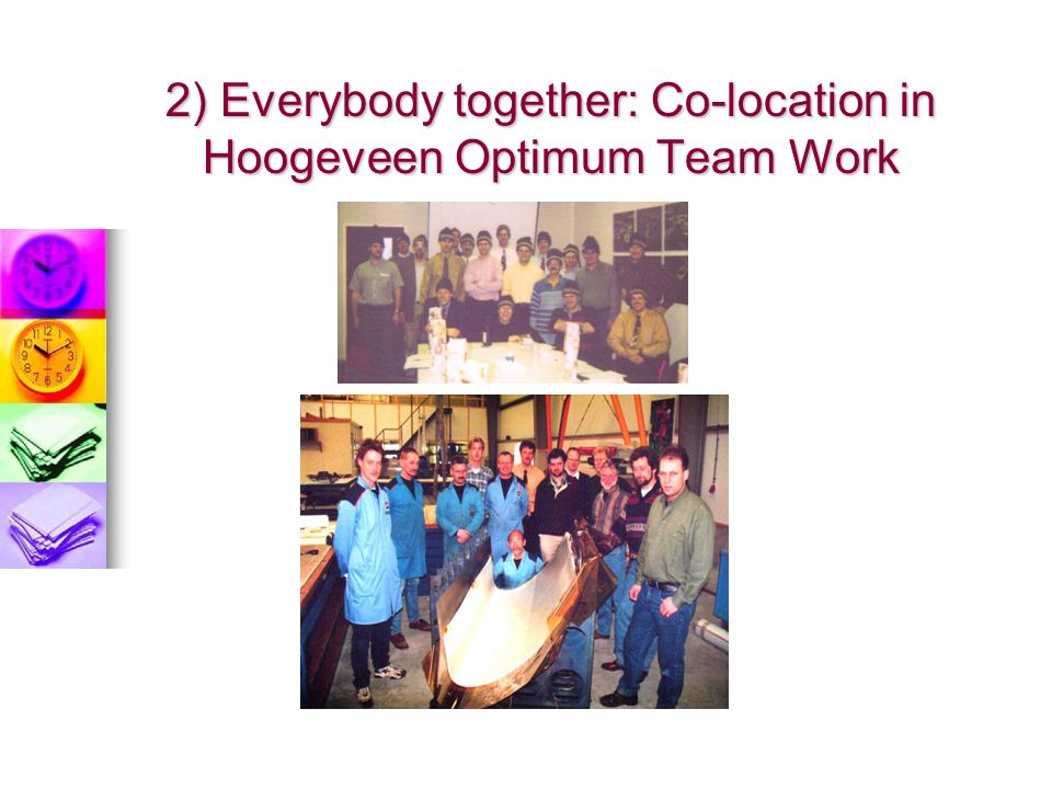2) Everybody together: Co-location in Hoogeveen Optimum Team Work