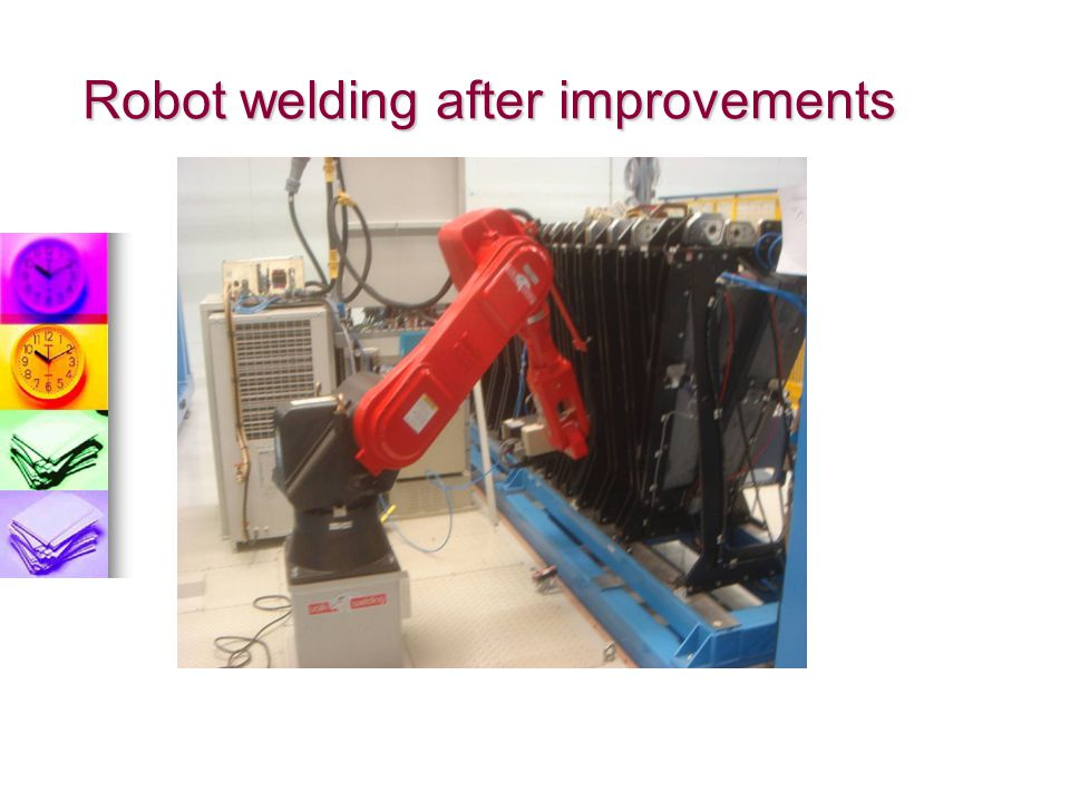 Robot welding after improvements