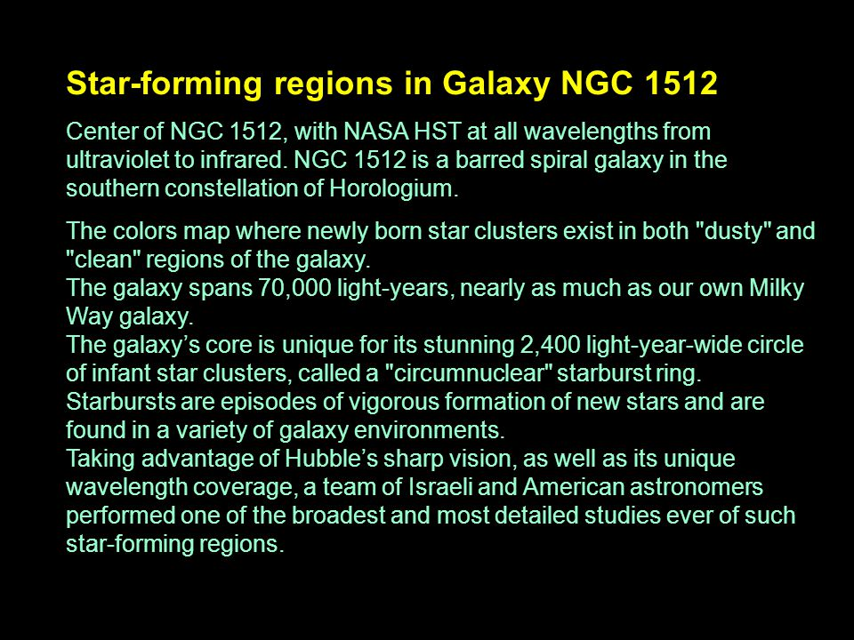 Star-forming regions in Galaxy NGC 1512