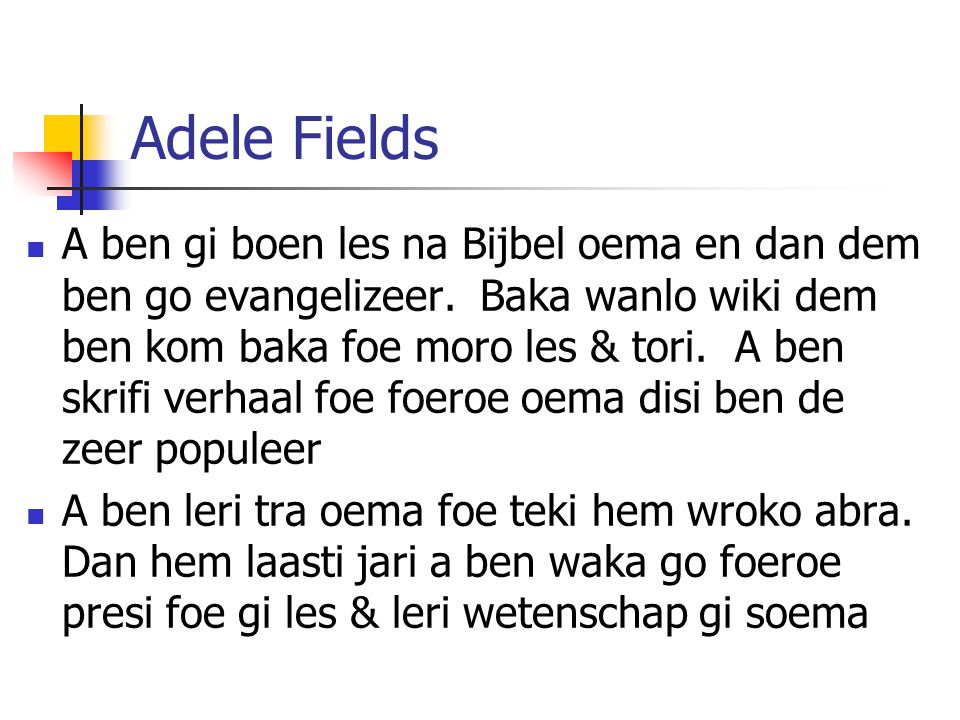 Adele Fields