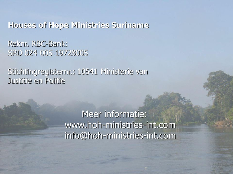 Houses of Hope Ministries Suriname