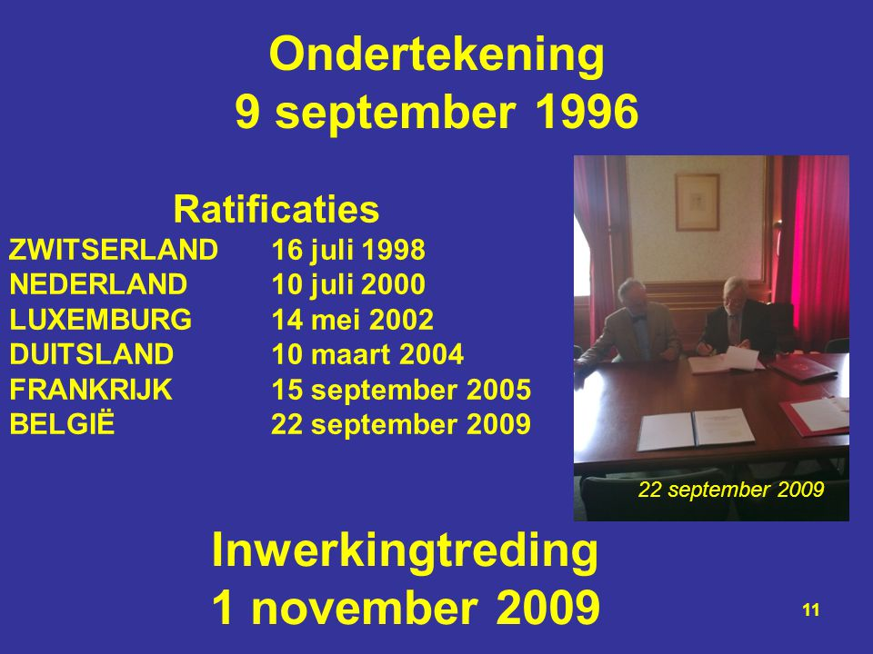 Ondertekening 9 september 1996