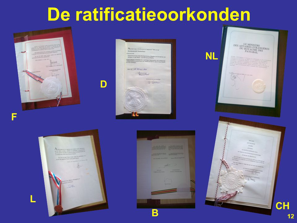 De ratificatieoorkonden