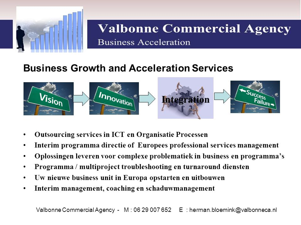Integration Business Growth and Acceleration Services