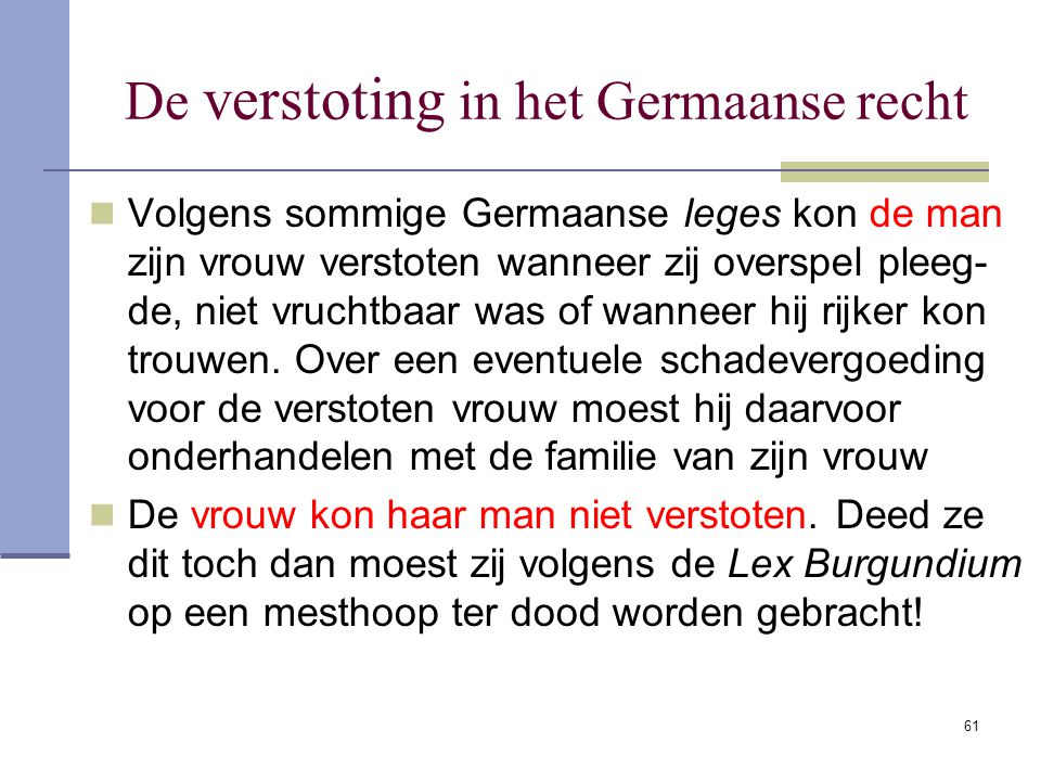 De verstoting in het Germaanse recht