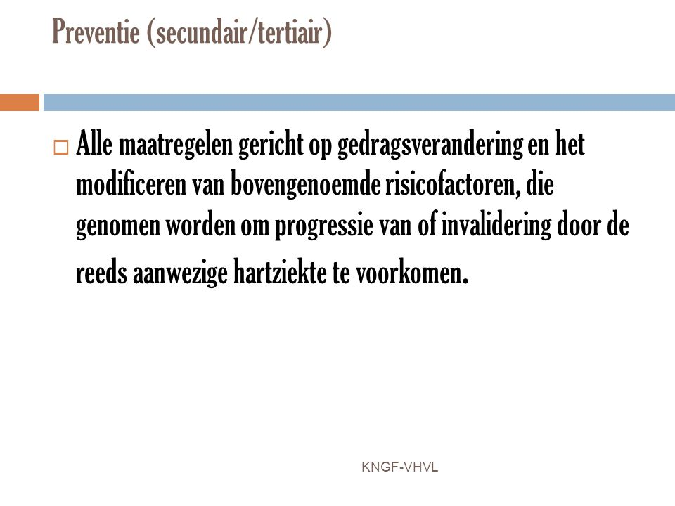 Preventie (secundair/tertiair)