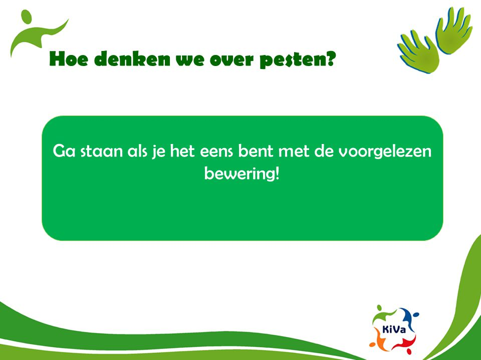 Hoe denken we over pesten