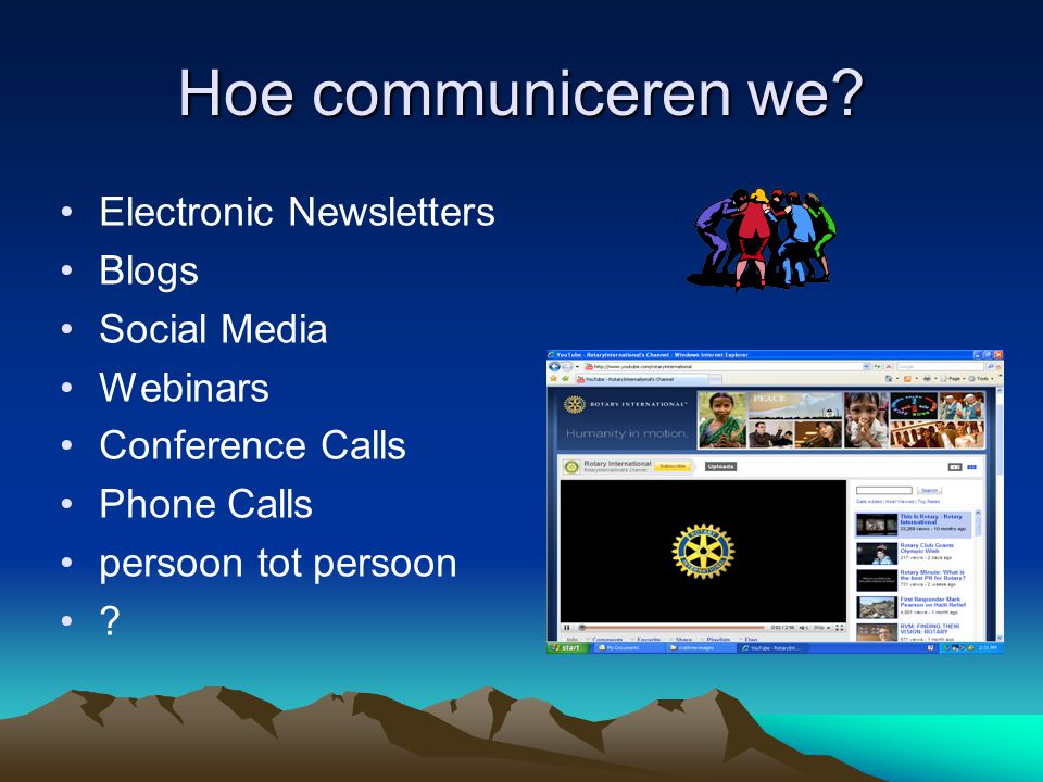 Hoe communiceren we Electronic Newsletters Blogs Social Media