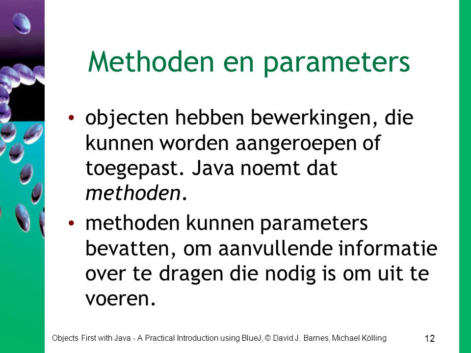 Methoden en parameters