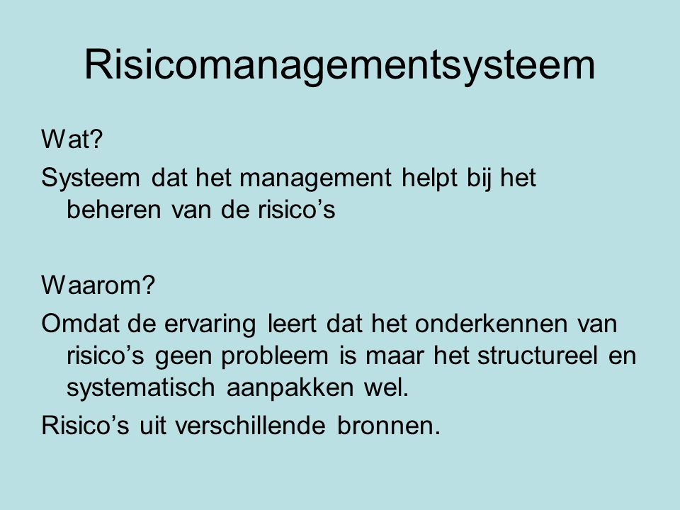 Risicomanagementsysteem