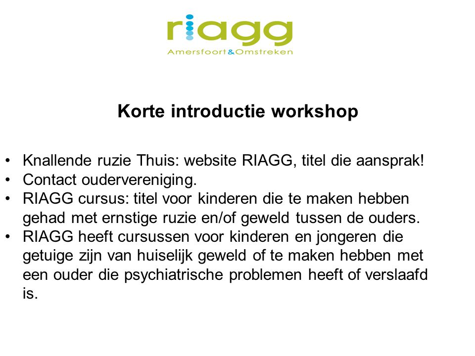 Korte introductie workshop