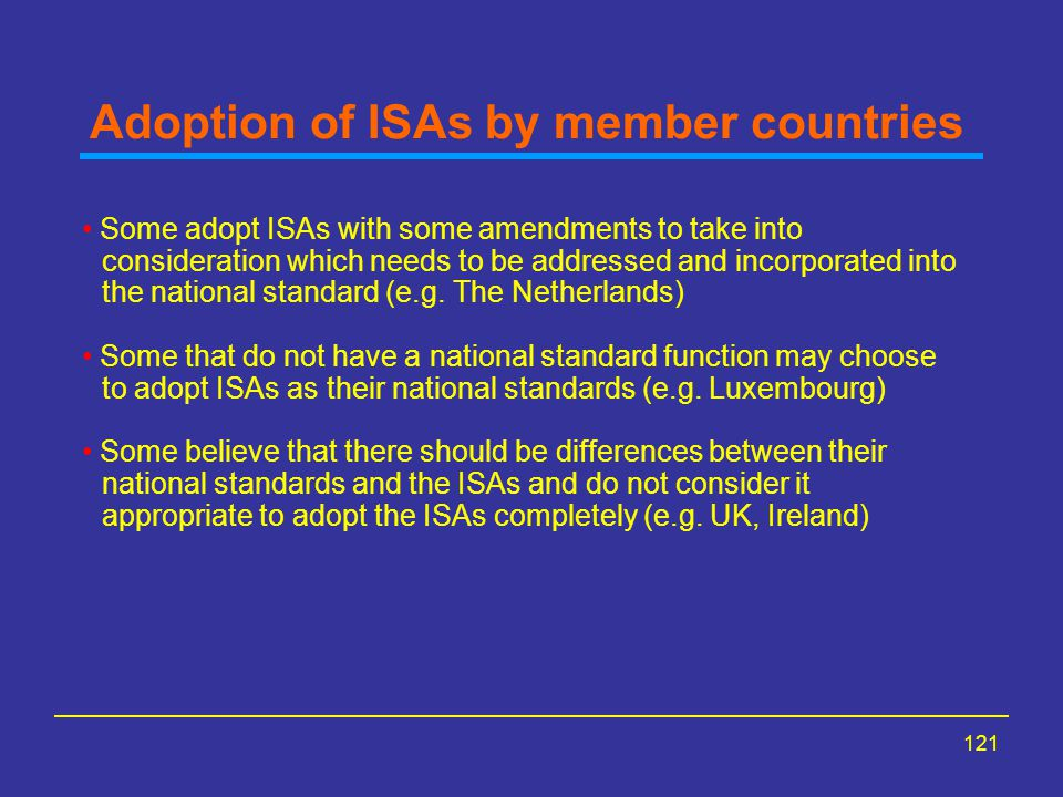 Adoption of ISAs by member countries