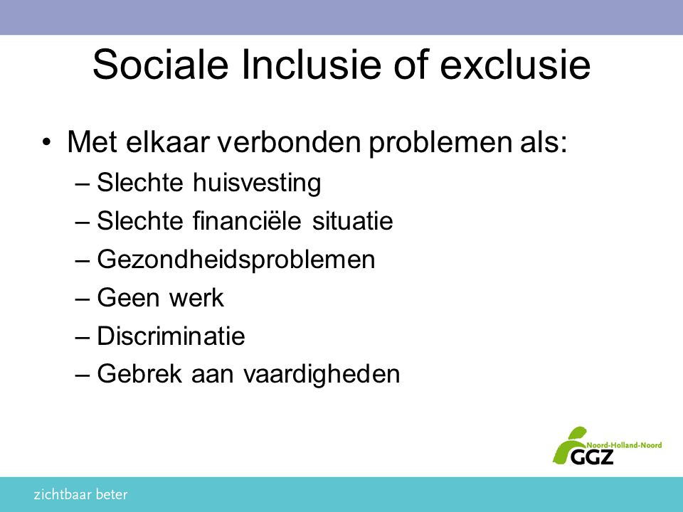 Sociale Inclusie of exclusie