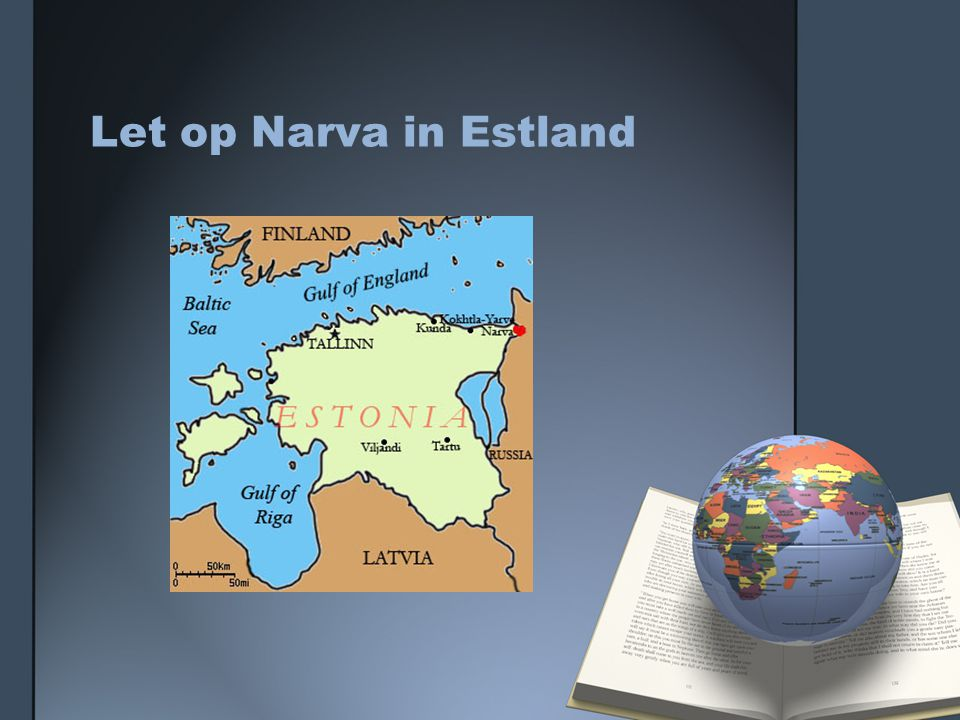 Let op Narva in Estland