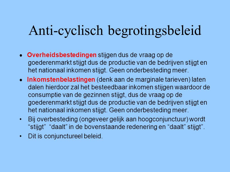Anti-cyclisch begrotingsbeleid