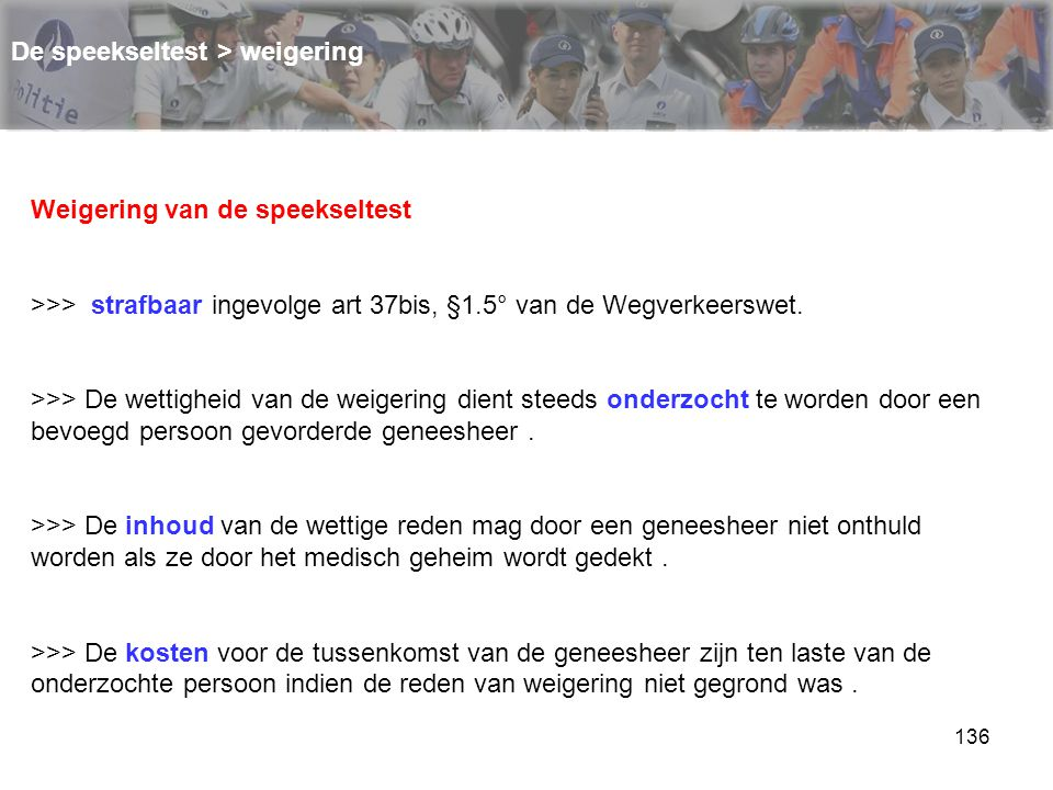De speekseltest > weigering