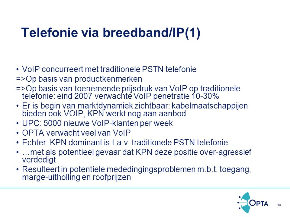 Telefonie via breedband/IP(1)