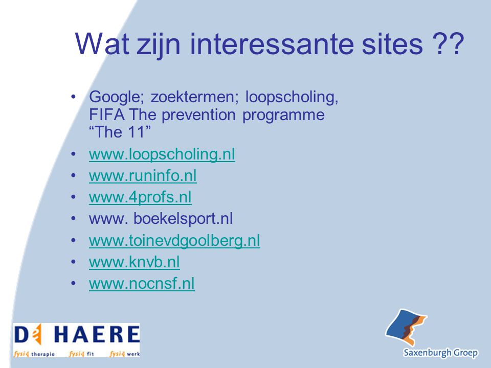 Wat zijn interessante sites