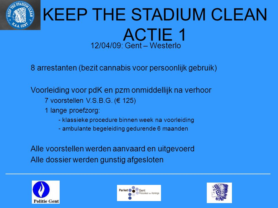 KEEP THE STADIUM CLEAN ACTIE 1