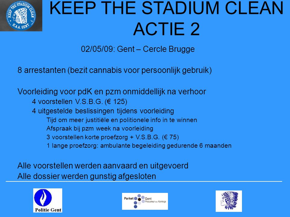KEEP THE STADIUM CLEAN ACTIE 2