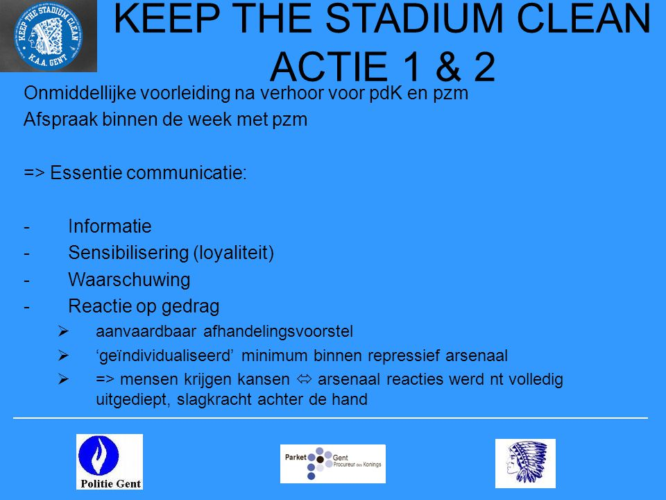 KEEP THE STADIUM CLEAN ACTIE 1 & 2