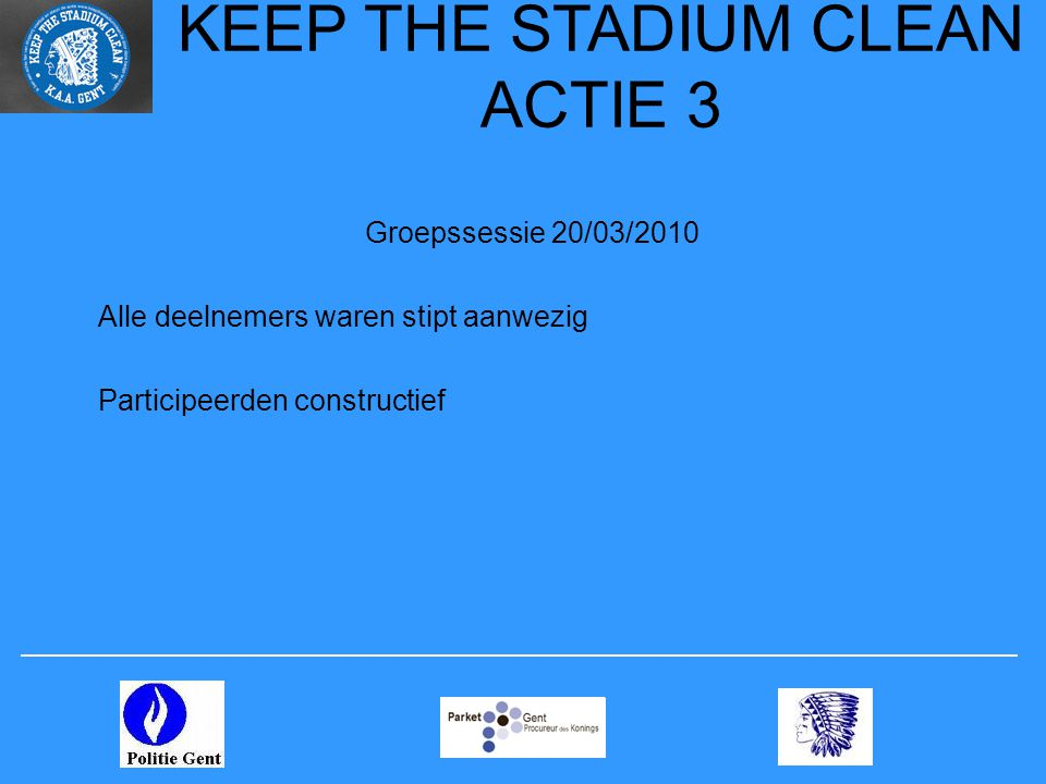 KEEP THE STADIUM CLEAN ACTIE 3