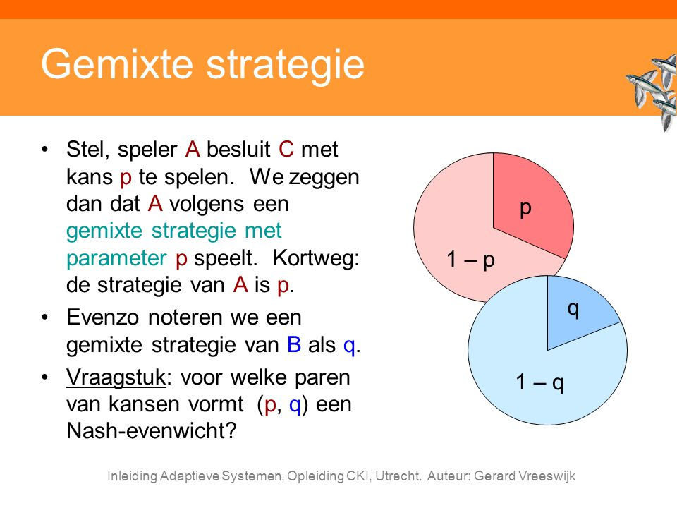 Gemixte strategie