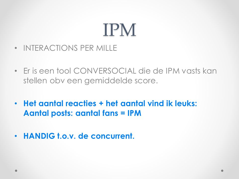IPM INTERACTIONS PER MILLE