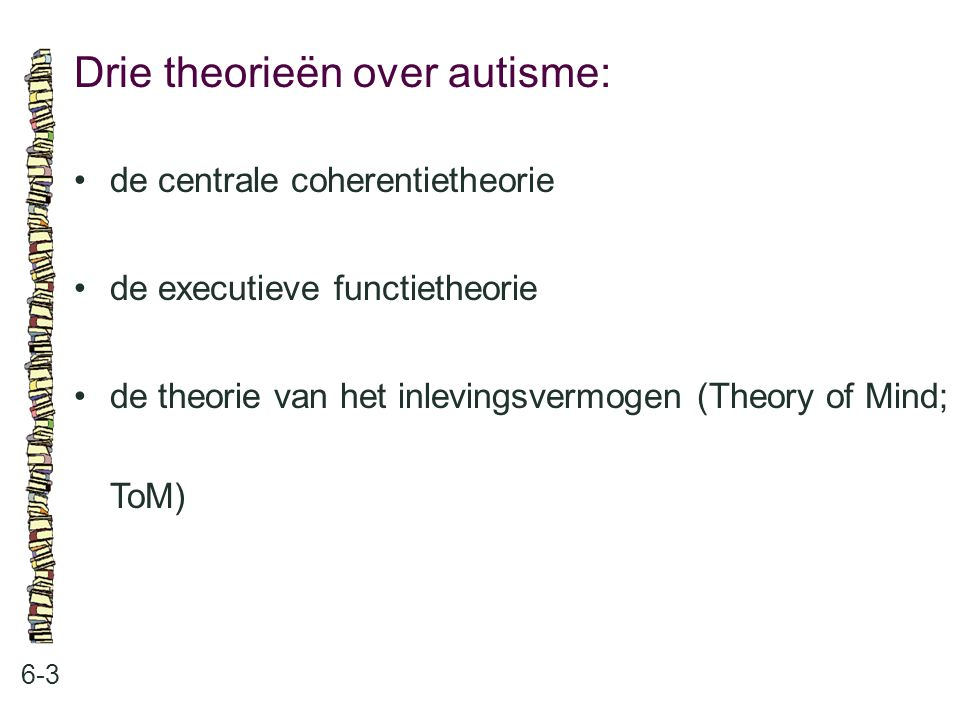 Drie theorieën over autisme: