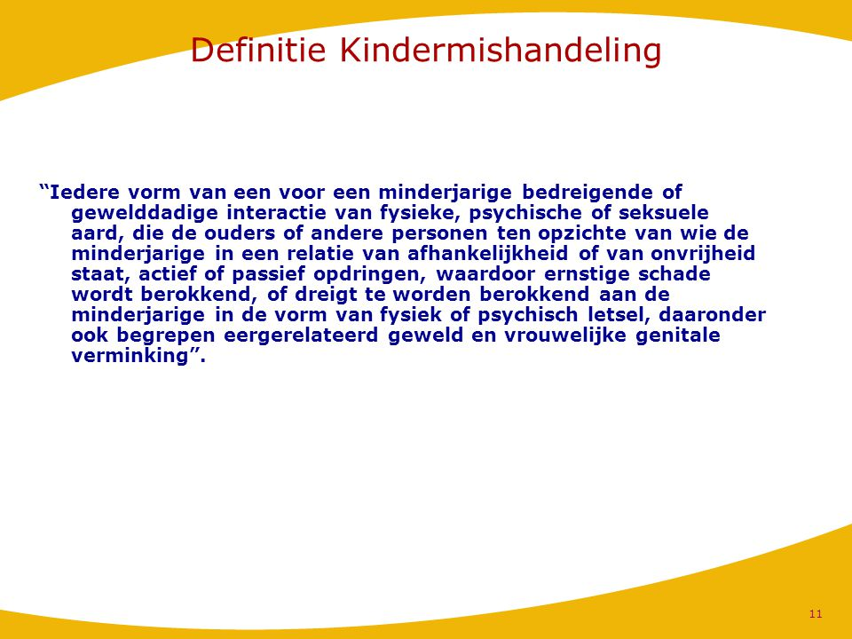 Definitie Kindermishandeling