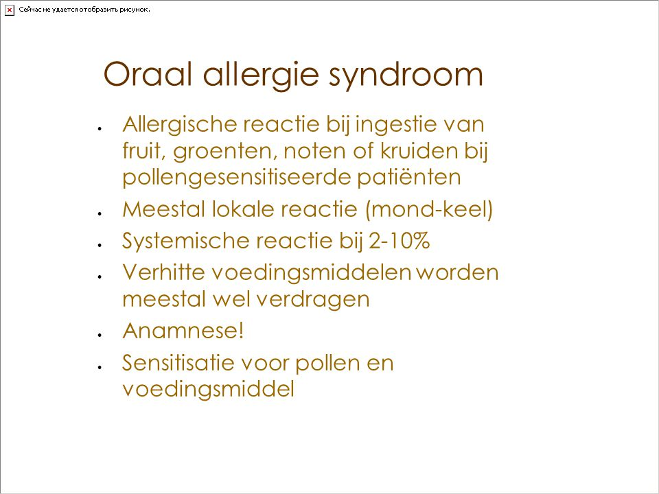 Oraal allergie syndroom