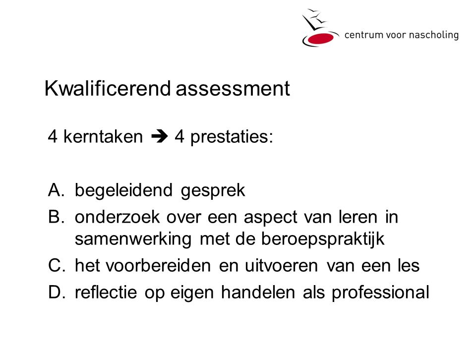 Kwalificerend assessment