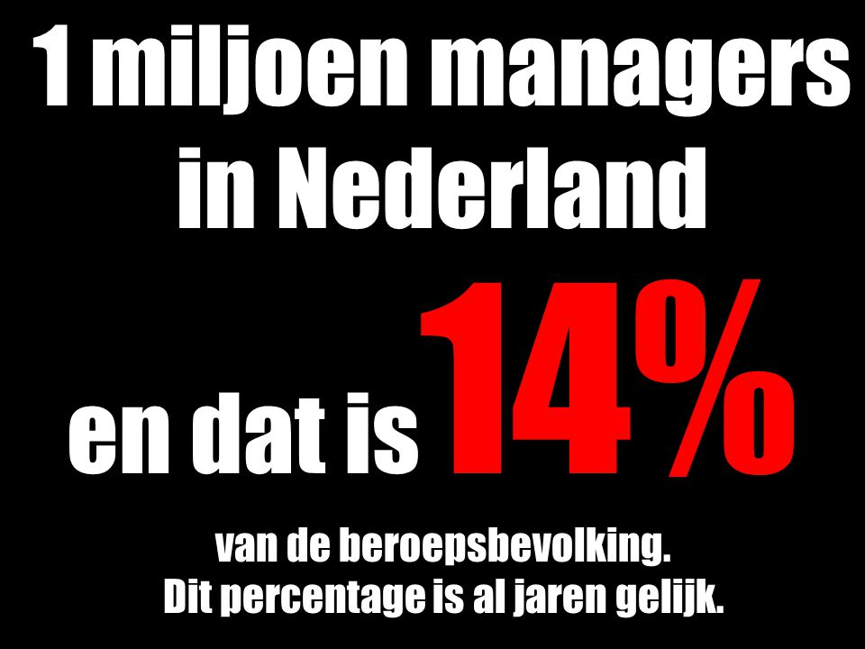 1 miljoen managers in Nederland