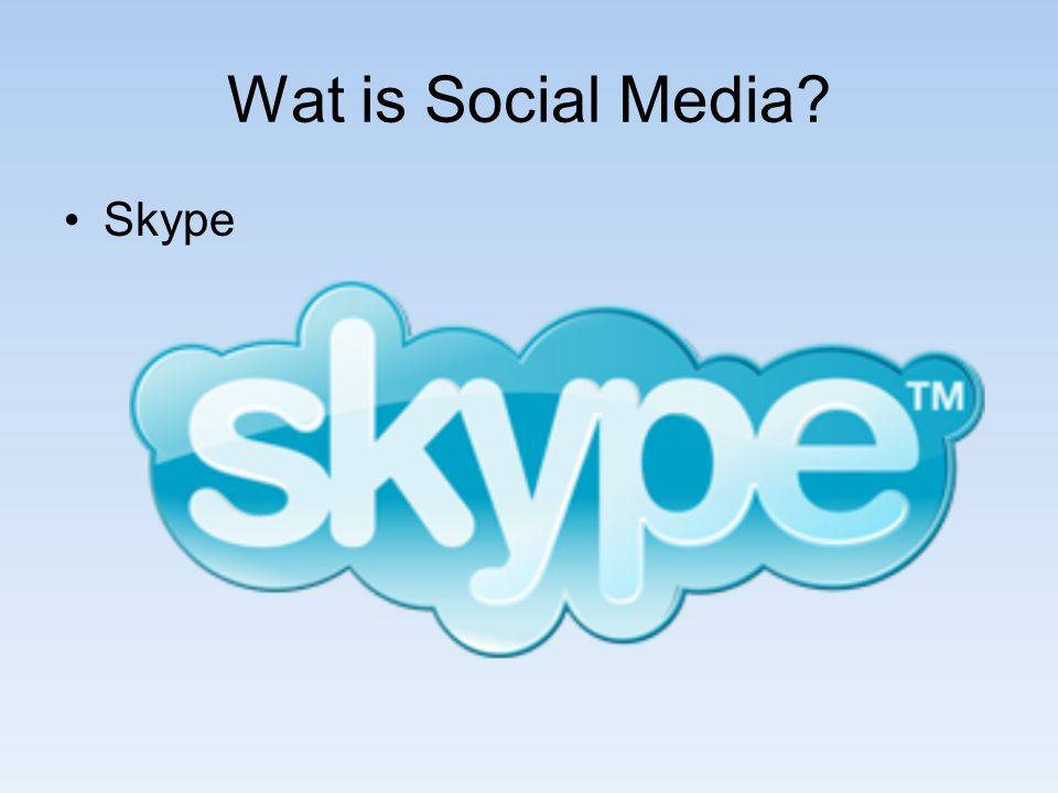 Wat is Social Media Skype