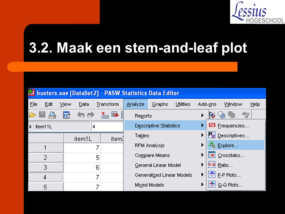 3.2. Maak een stem-and-leaf plot
