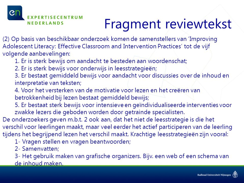 Fragment reviewtekst