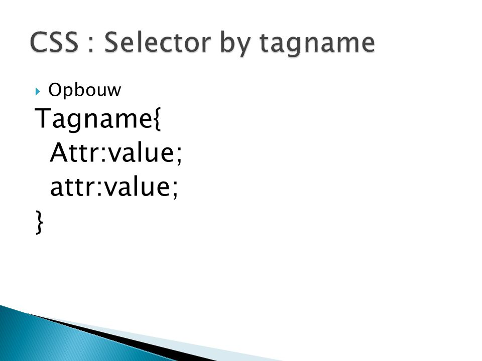 CSS : Selector by tagname